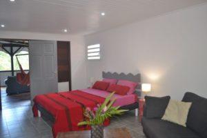 la chambre de la villa creole